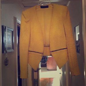 Zara jacket size 0 yellow